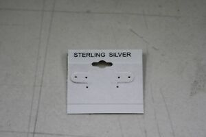1000ct Lot Sterling Silver Grey Plastic Holder Hanging Earring Display Card