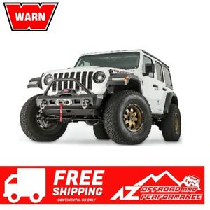 Warn Elite Stubby Front Bumper Grille Guard For 18 20 Jeep Wrangler Jl 101330