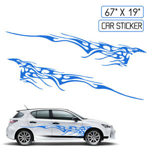 Blue 102 X14 Car Decal Vinyl Graphics Two Side Stickers Body Decals Sticker