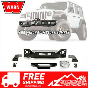 Warn Oe Steel Bumper Winch Plate 18 20 Jeep Wrangler Jl Rubicon 101255 Black Pc