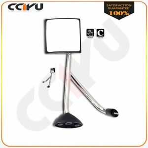 For 02 18 International Truck Hood Mirror Chrome Manual Driver Lh Side Assembly