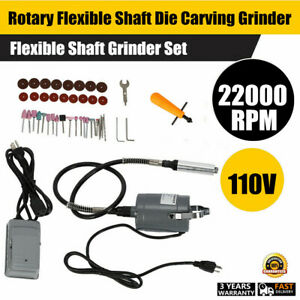 Electric Flexible Shaft Die Grinder Rotary Tool Variable Speed Foot Pedal Kit US