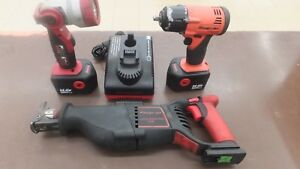 Snap On 14v Cordless Kit Sawzall Impact Light With 2 Batteries And Charger