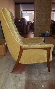 Mid Century High Back Upholstered Chair Adrian Pearsall Style Dux Kroehler Avant