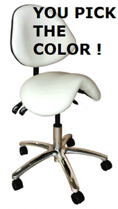 Galaxy 2030 Ergonomic Dental Saddle Stool Doctor s Contoured Chair 17 Colors
