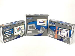Lot Of 3 Virtual Ink Whiteboard Mimio Capture Kit Pad And Interactive