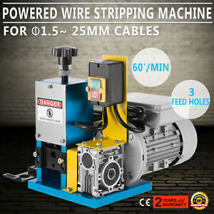 Portable Powered Electric Wire Stripping Machine Metal Recycle 1 4hp Heavy Duty