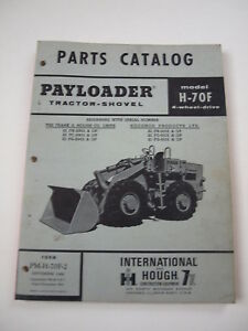 Ih International Hough 70f Front end Wheel Pay Loader Tractor Parts Catalog List