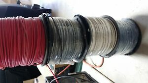 Lot Of 4 Rolls Red White Blue Black 500 Awg 12 Stranded Copper Wire Thhn 600v