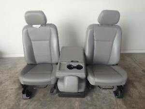 2017 2019 Ford F250 Superduty Gray Vinyl Front Seats 40 20 40 New Take Out