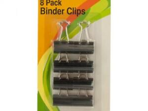 Small Binder Clips 8 Piece Strong Metal Files Documents Organizer Clip 24 Packs