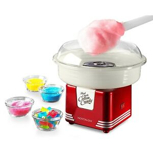 Commercial Electric Cotton Candy Maker Retro Red Sugar Free Store Kit