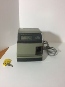 Amano Pix 3000x With 2 Keys Back up Battery Power Needs Ink