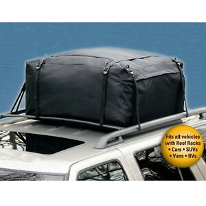 Weatherproof Car Top Bag Roof Large Carrier Storage Travel Luggage Cargo Jeep 15