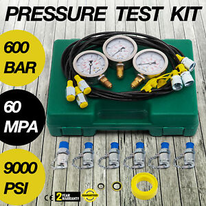 Hydraulic Pressure Test Kit For Excavator Hydraulic Tester 60mm Gauge Set
