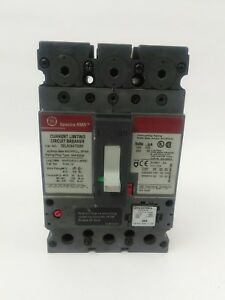 Ge Sela24at0060 60a 480v 2p circuit Breaker W 40a Plug Used