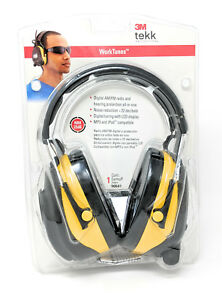 3m Worktunes Hearing Protector Mp3 Compatible With Am fm Radio Tuner Lcd New