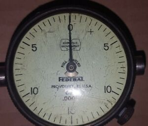 Vintage Federal Dial Indicator C5m 0005 With Swivel Rod