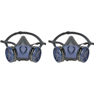 Moldex 7103 Large Organic Vapor 2 pack Respirators With Facepiece Cartridges