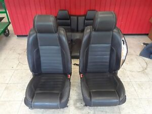 2013 Mustang Gt Front Rear Seat Set Coupe Black Leather Aa6339