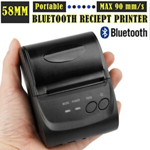 58mm Bluetooth Portable Thermal Receipt Printer For Windows Android Smartphone