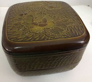 Showa 43 1968 Vintage Japanese Lacquer Box