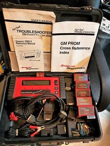 Used Snap On Diagnostics Scanner Mt2500 Complete In Case W Cartridges