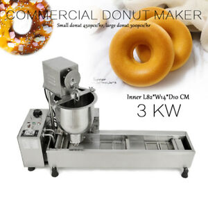 Commercial Automatic Donut Making Machine wide Oil Tank 3 Sets Free Mold In U s