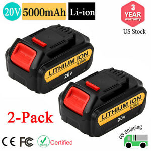 Dcb205 For Dewalt 20v 20 Volt Max Xr Lithium Ion Battery 5 0ah Dcb204 2 Dcb200 2