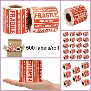 Fragile Stickers Roll 2 X 3 Shipping Labels Stickers 500 Labels Per Roll