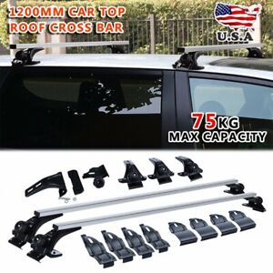 Universal Roof Rack Cross Bar Cargo Carrier W Anti Theft Lock System For Car