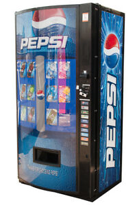 Vendo 601 Vending Machine W Pepsi Graphic