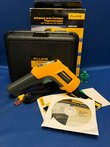 Fluke 568 Contact Infrared Ir Thermometer W Lcd Display Hard Case