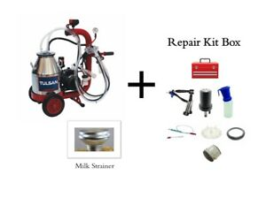 Tulsan Goat Milker Machine Portable Electric Milking System With Repair Kit