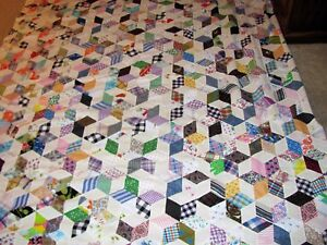 Quilt Top Hand Stitched From The 1940 S Country Quilt Top 102 X 76