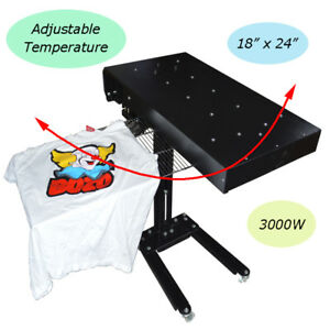 Temperature Adjustable Flash Dryer Screen Printing Heating Machine Ink Curing