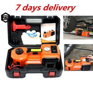 5t Led Flashlight Safe Hammer 12v Electric Hydraulic Jack Car Repair Tool Kit