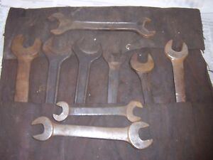Vtg Antique Large Jumbo Wrench Industrial Jh Williams Din Open Spanner In Canvas