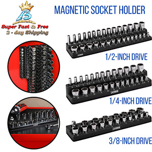 Metric Magnetic Socket Holder Hand Tools Organizer Storage Household Supplies