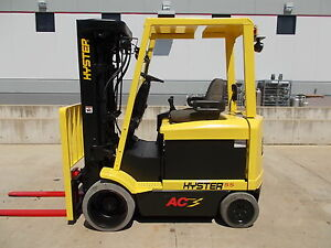 Hyster E55z Quad 4 Wheel Compact Electric Truck Forktruck Fork Forklift Hilo