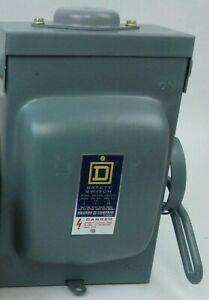 Sq d H 221nrb Ser D1 Safety Switch 30a 240v ac 125 250v dc Fusible New
