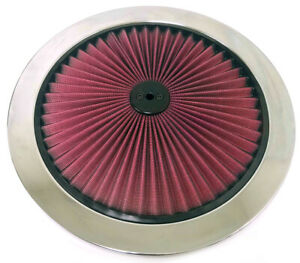 14 Red Flow Thru Washable Air Cleaner Lid Top Only Hot Rod Big Block Muscle Car