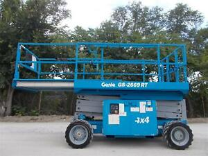 2012 Genie Gs 2669rt All Terrain Scissor Platform Lift Rough Terain Lift Genie