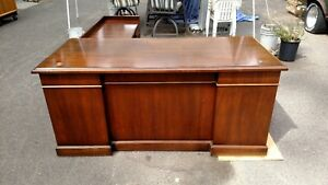 vintage L Shaped Desks Walnut Right Return Lots Of Detailwedeliverlocallynorcal