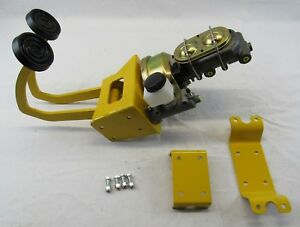 Power Hydraulic Clutch Pedal Brake Booster Master Cylinder Kit Yellow Hotrod