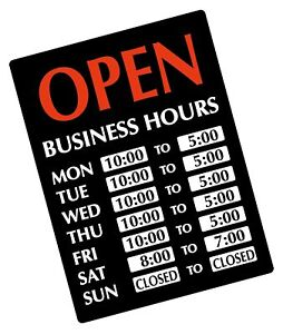 Newon Led Lighted Open Sign With Business Hours 23 4 X 20 4 X 1 2