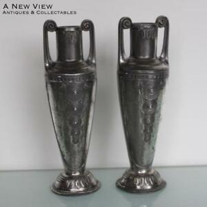 A Pair Of Art Nouveau Orivit Vases