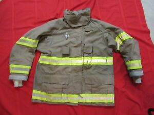 2005 Fire Cairns Turnout Jacket 44 X 32 Firefighter Bunker Gear Coat Globe
