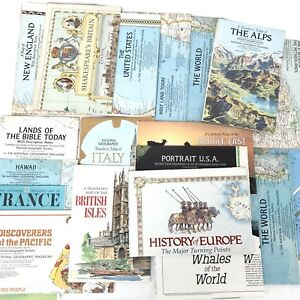 National Geographic Maps Lot Of 19 1955 1985 World United States Political