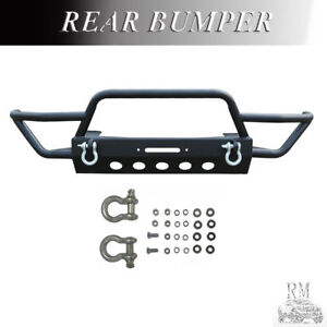 Fits 2007 2017 Jeep Wrangler Jk Black Front Bumper Rock Crawler With Winch Plate